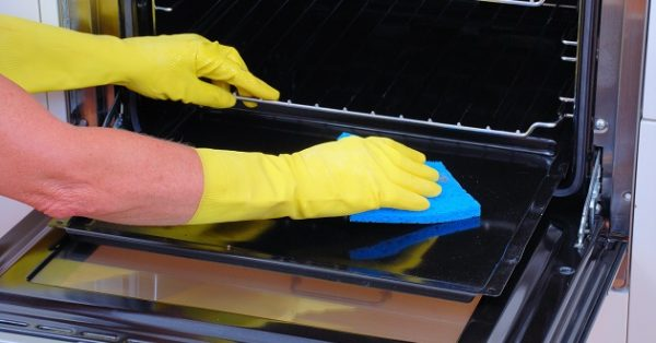 cleaning a high end oven